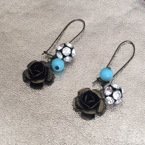 Bronze and Teal Earrings
